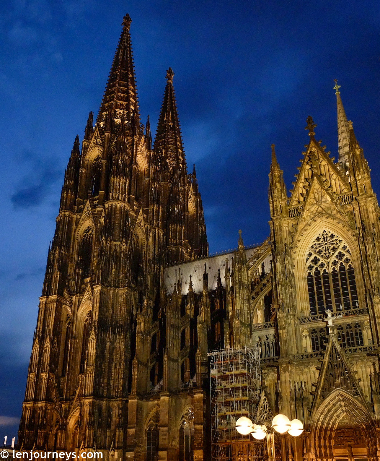 The grand spires of Cologne Cathedral