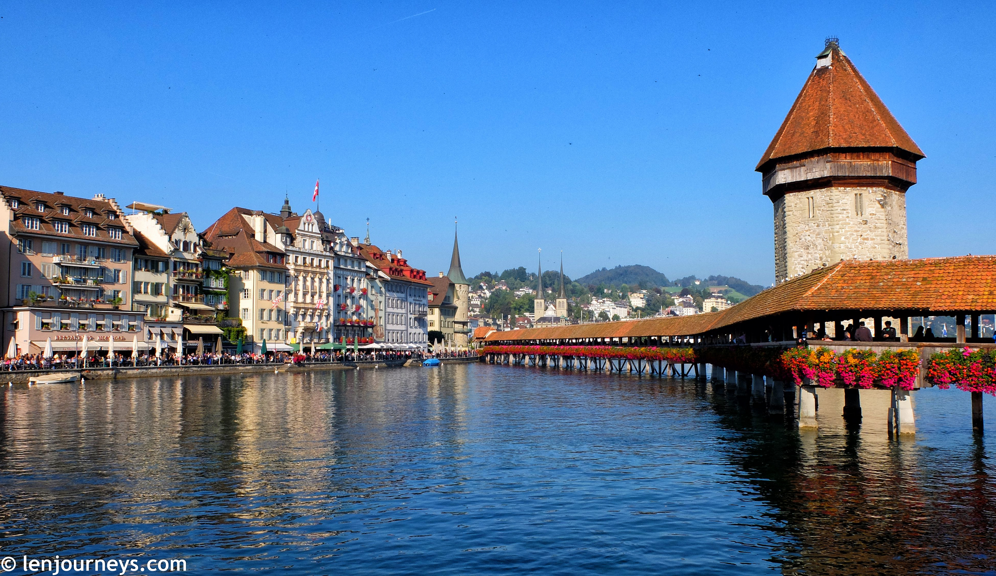 Chapel Bridge and the Water Tower in Lucerne