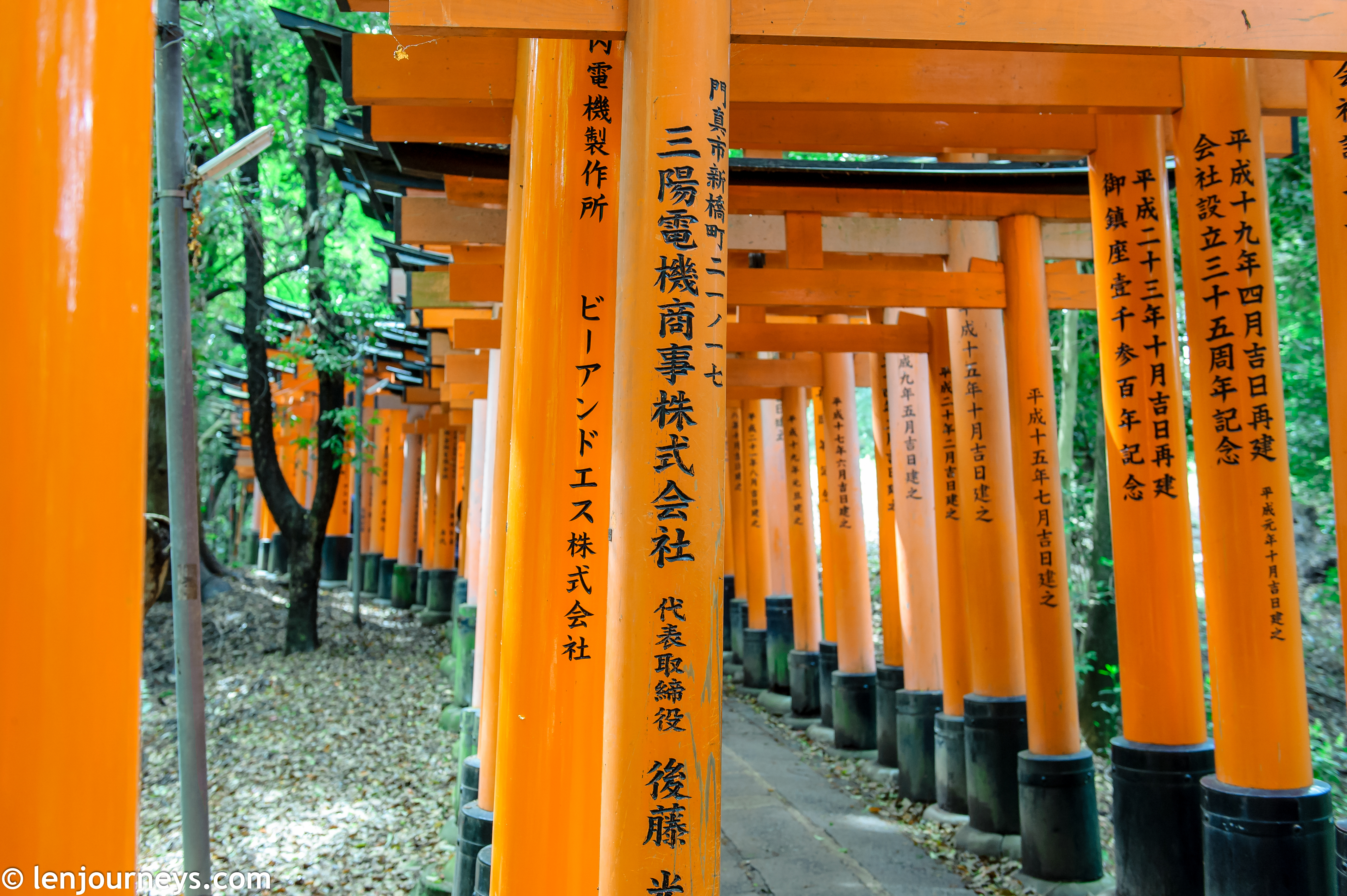 Inscription on the torii: donator's name and date