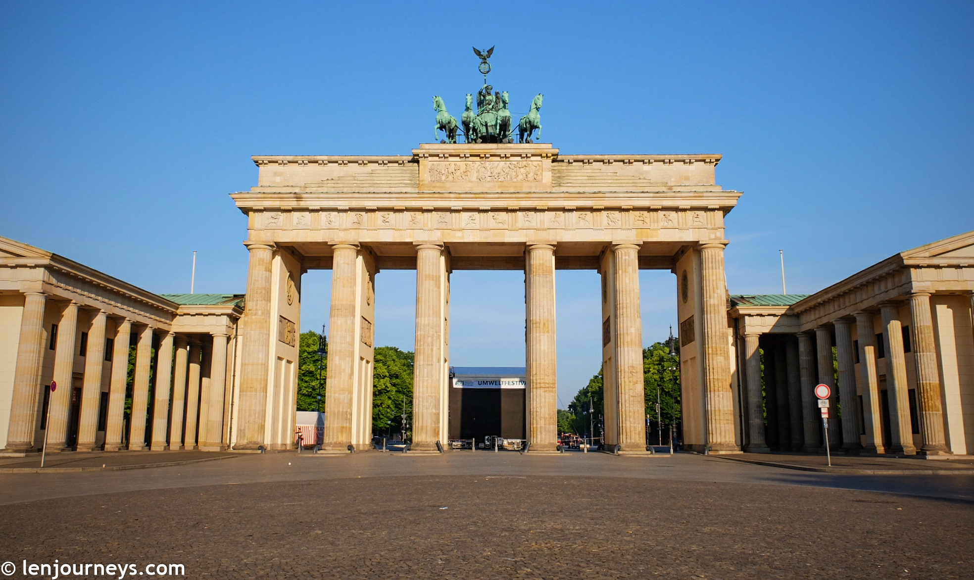 Early morning at Brandenburg Gate