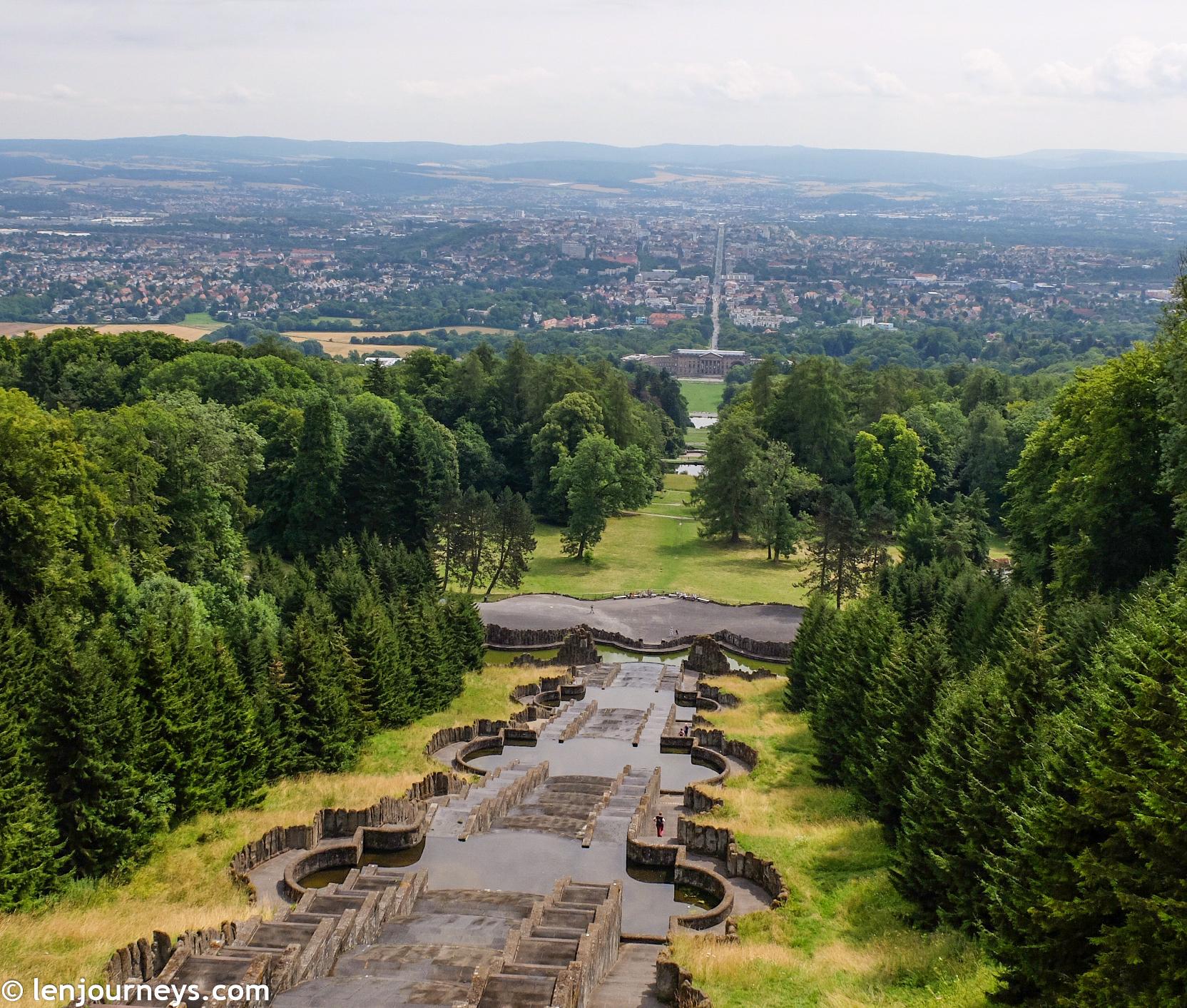 View from the summit of Bergpark Wilhelmshöhe