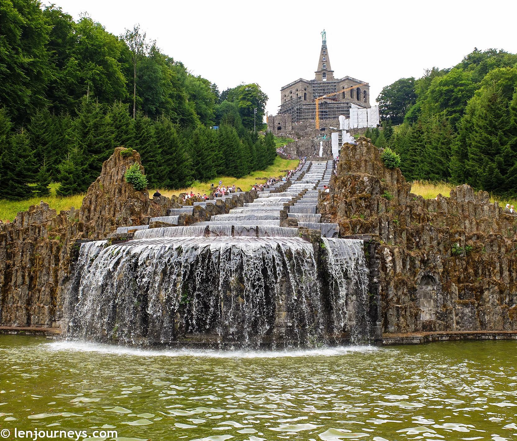 Water cascade in Bergpark Wilhelmshöhe