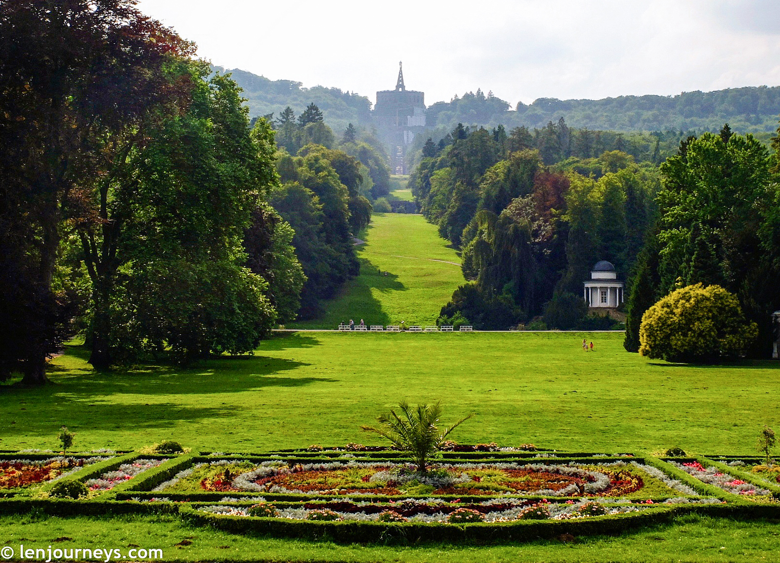 View of the park from Wilhemshöhe Palace