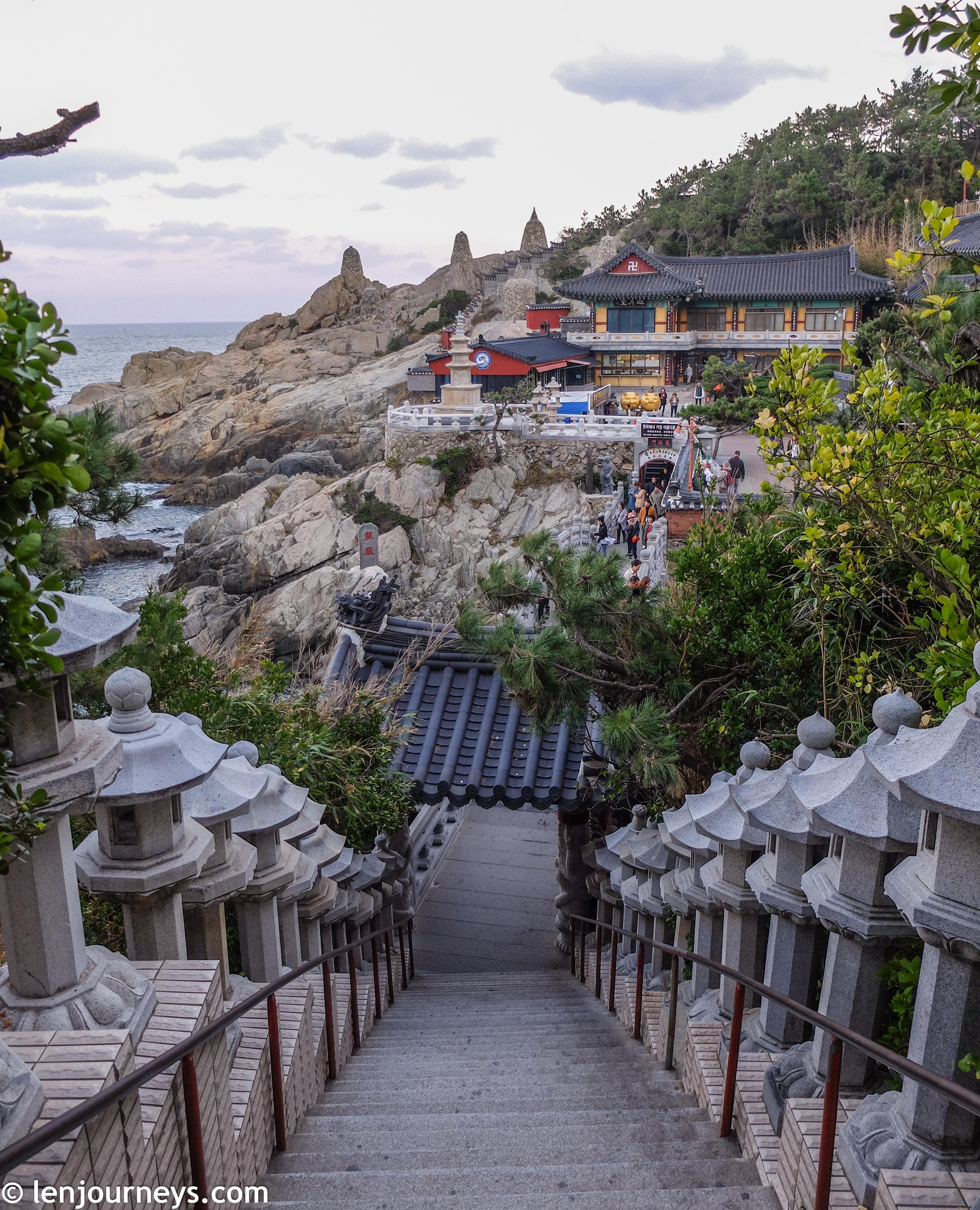 Lantern-lined path at Haedong Yonggungsa