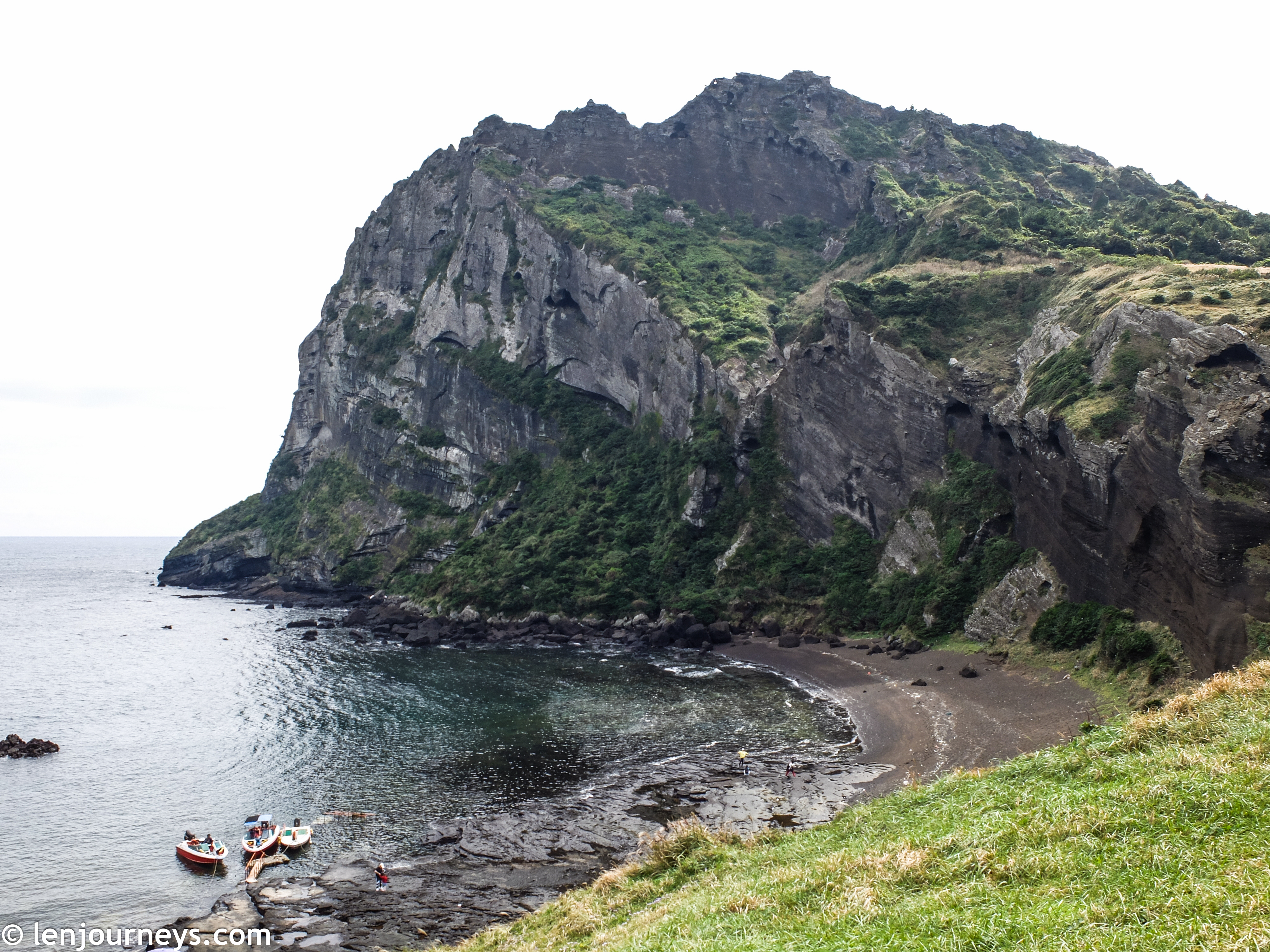 Dramatic rocky outcrop in East Jeju