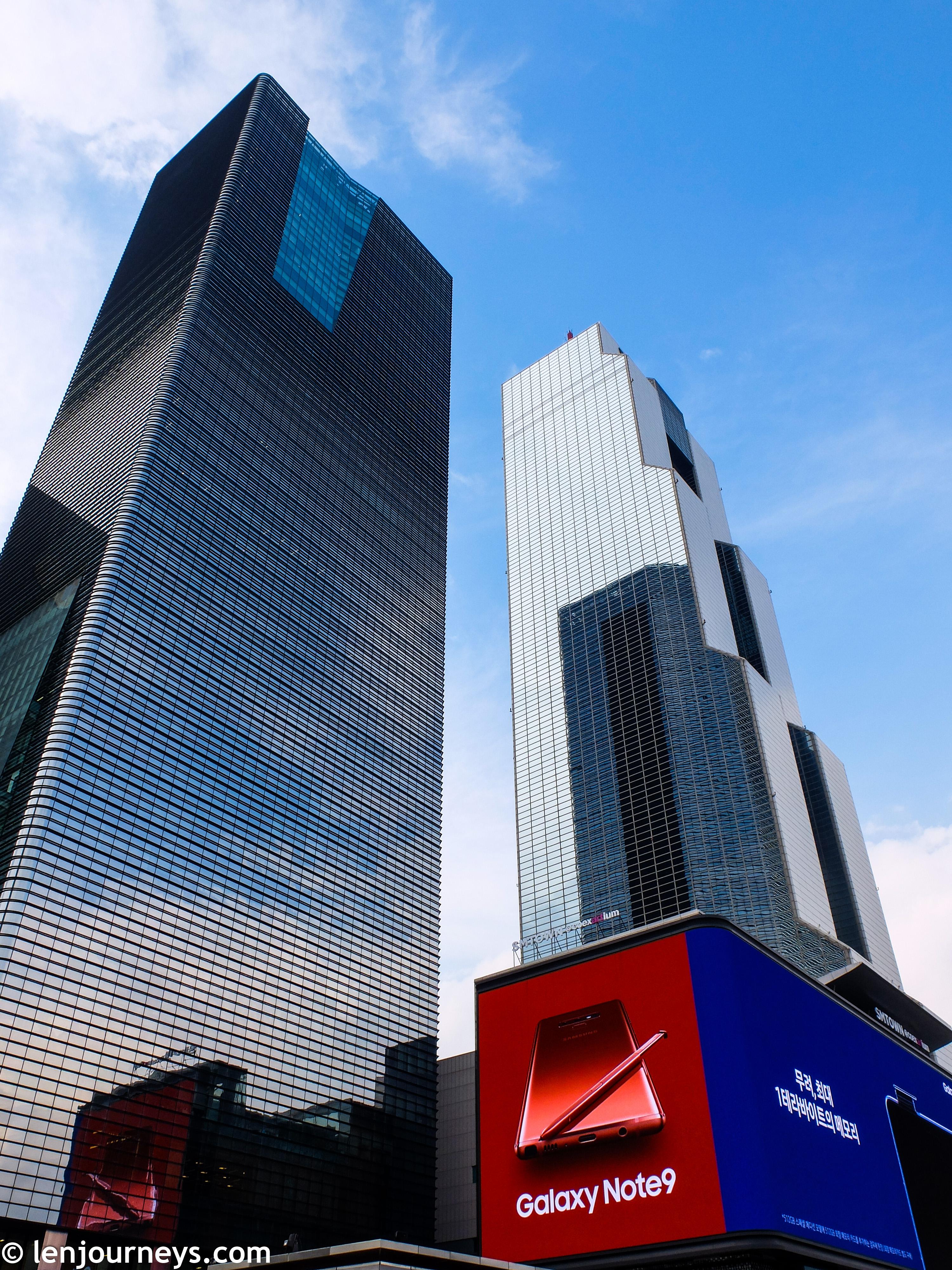 The skyscrapers in Gangnam