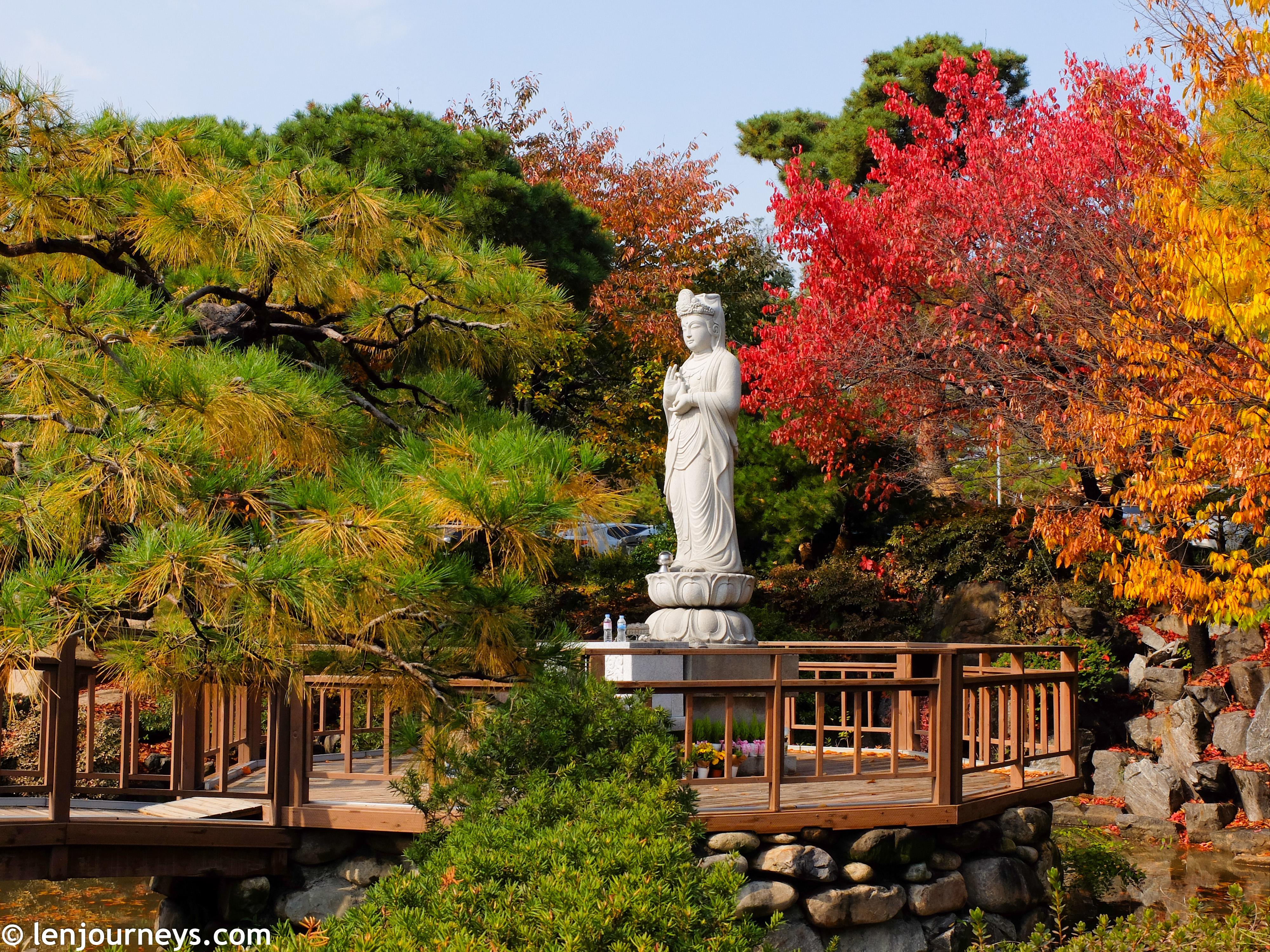 The garden of Bongeunsa