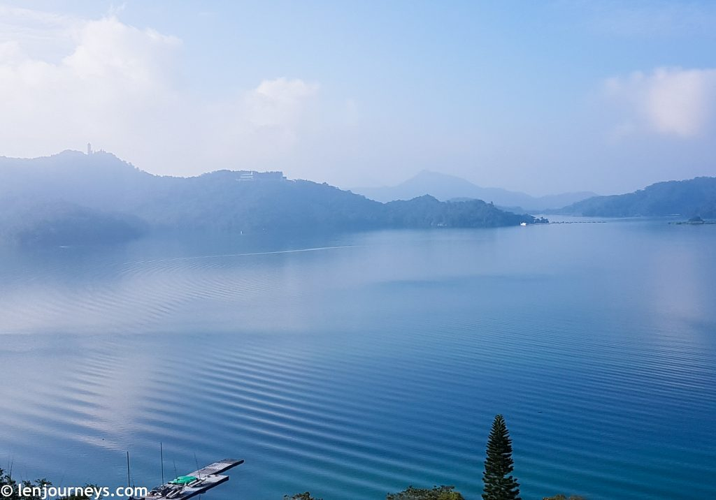 Sun Moon Lake in the morning hours