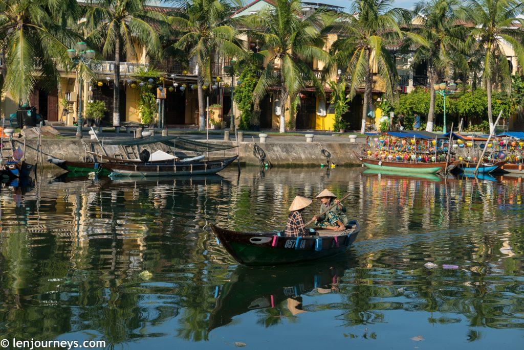 Sampan on the Thu Bon River
