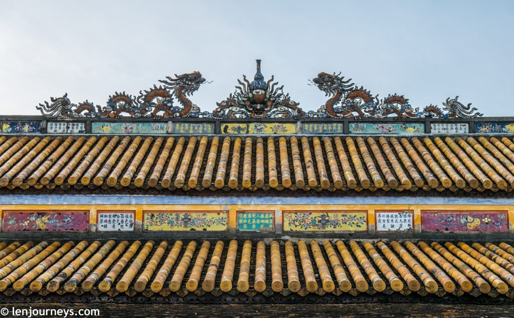 Dragon motif on the roof of the throne room