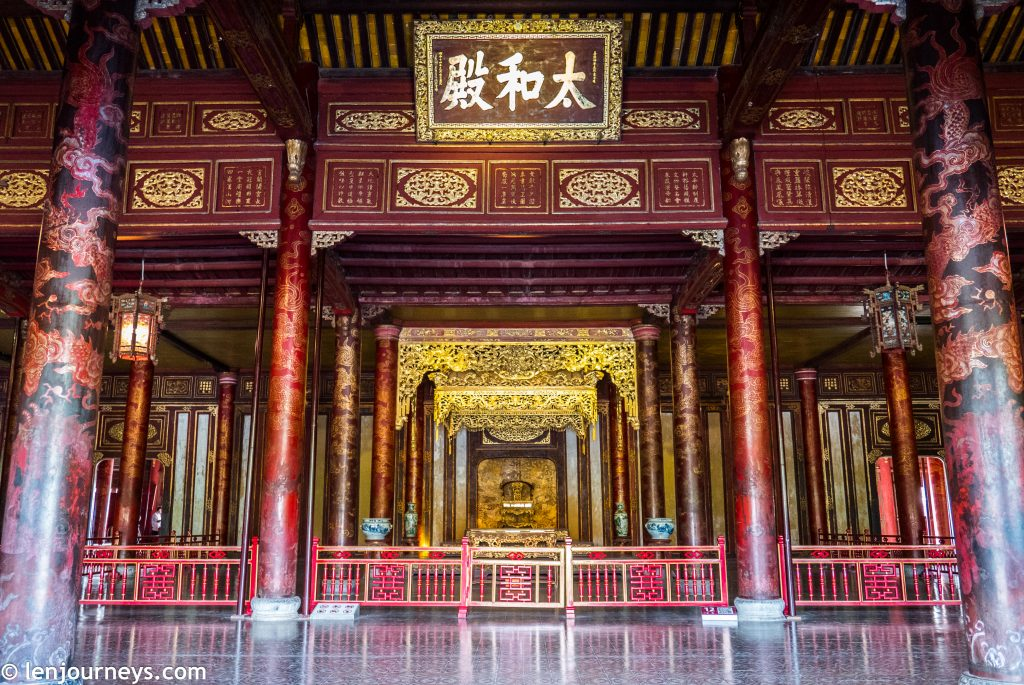 Hall of Supreme Harmony - The throne room in Hue Imperial City
