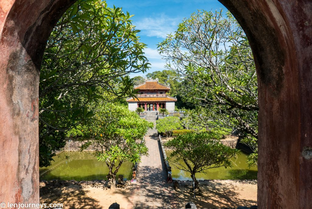 The path leading to Minh Mang Tomb