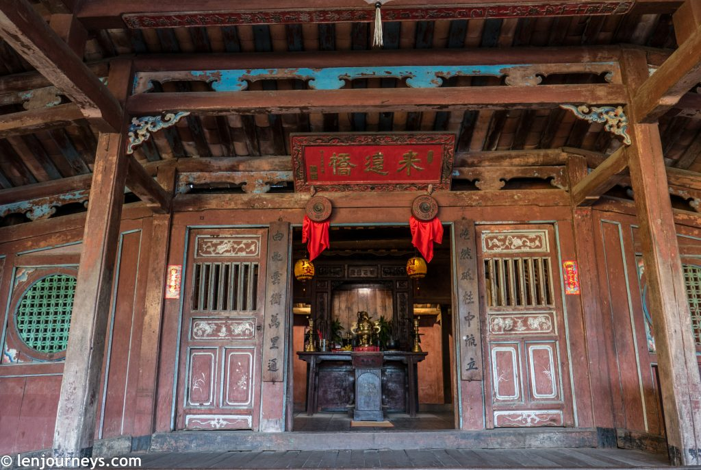 Temple inside Japanese Bridge