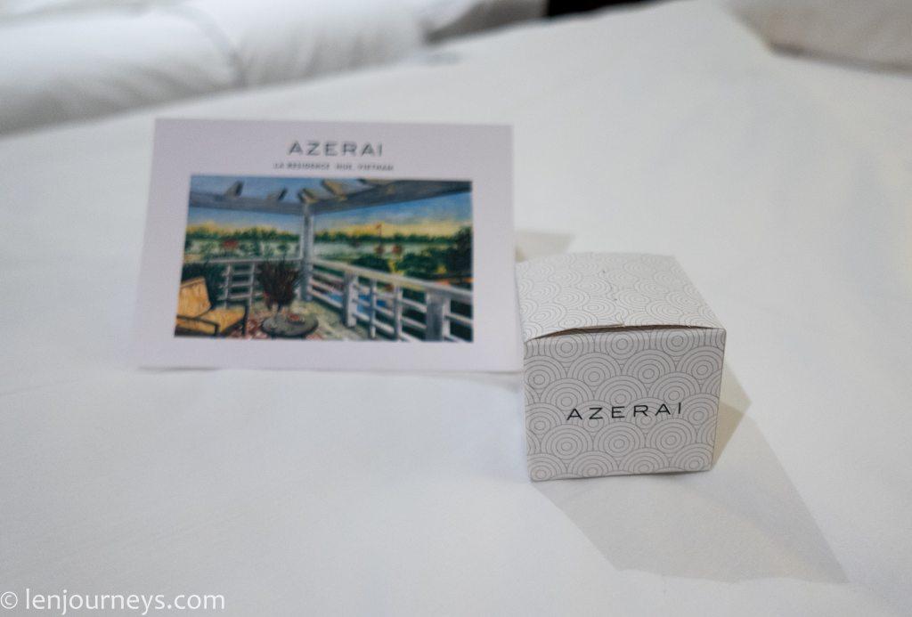 Sweet treat offered by Azerai staff