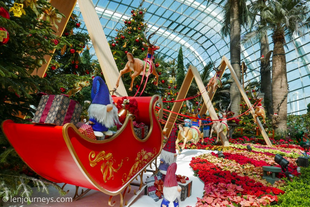 Christmas spectacles at Flower Dome, Gardens by the Bay