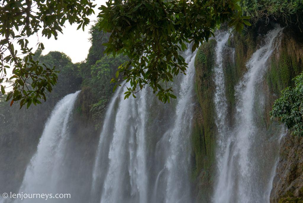 Water flow at Ban Gioc Waterfall