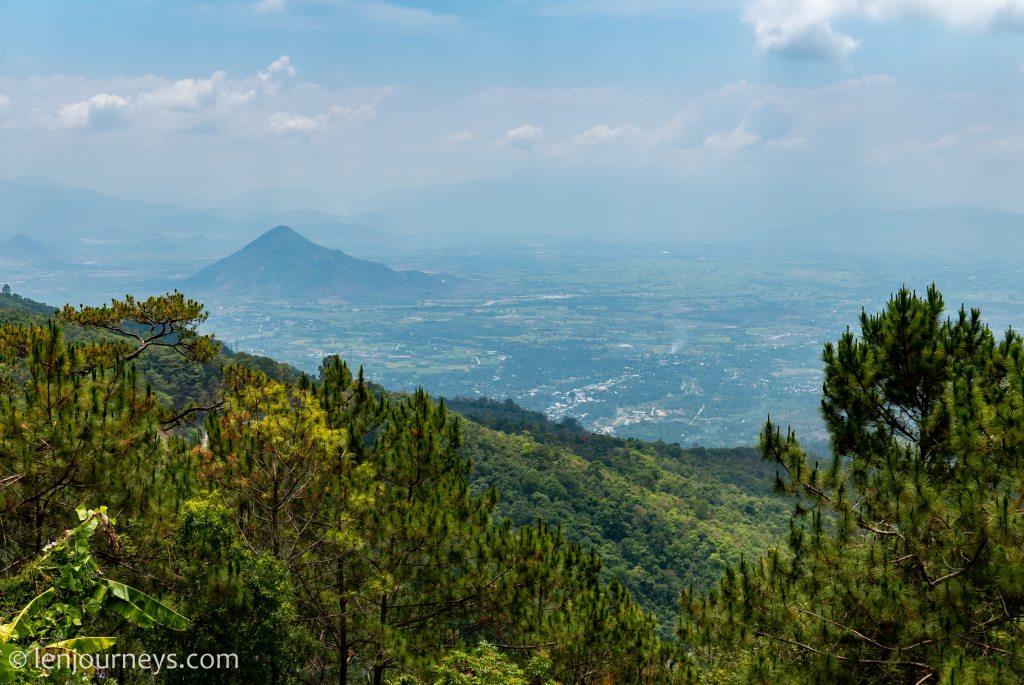 View of Ninh Thuan plain from Da Lat Plateau