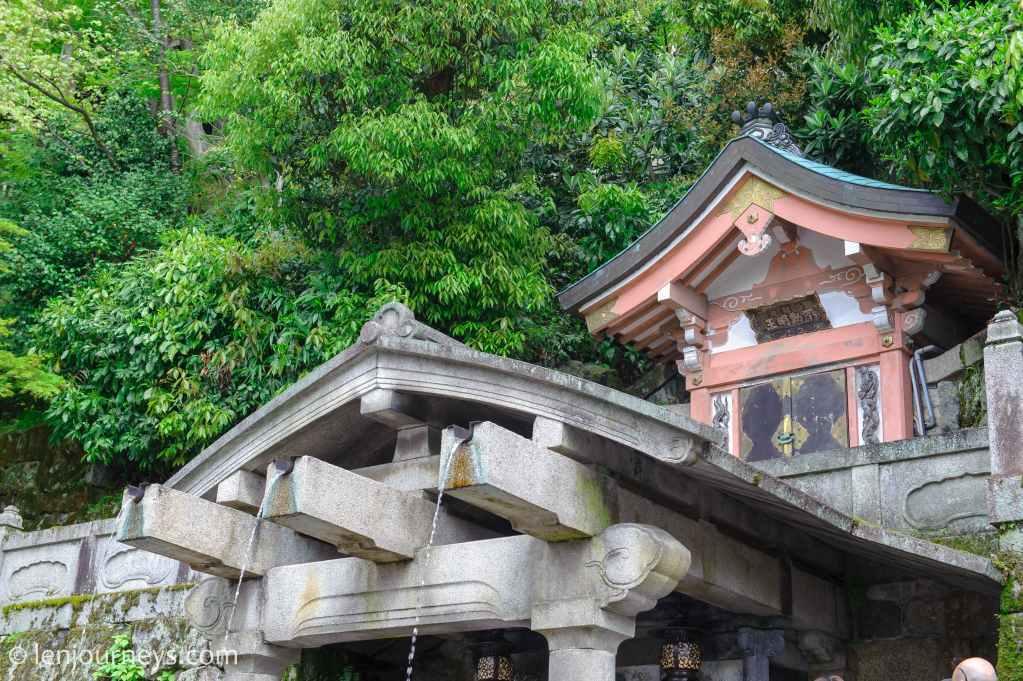 Divine water at Kiyomizu-dera