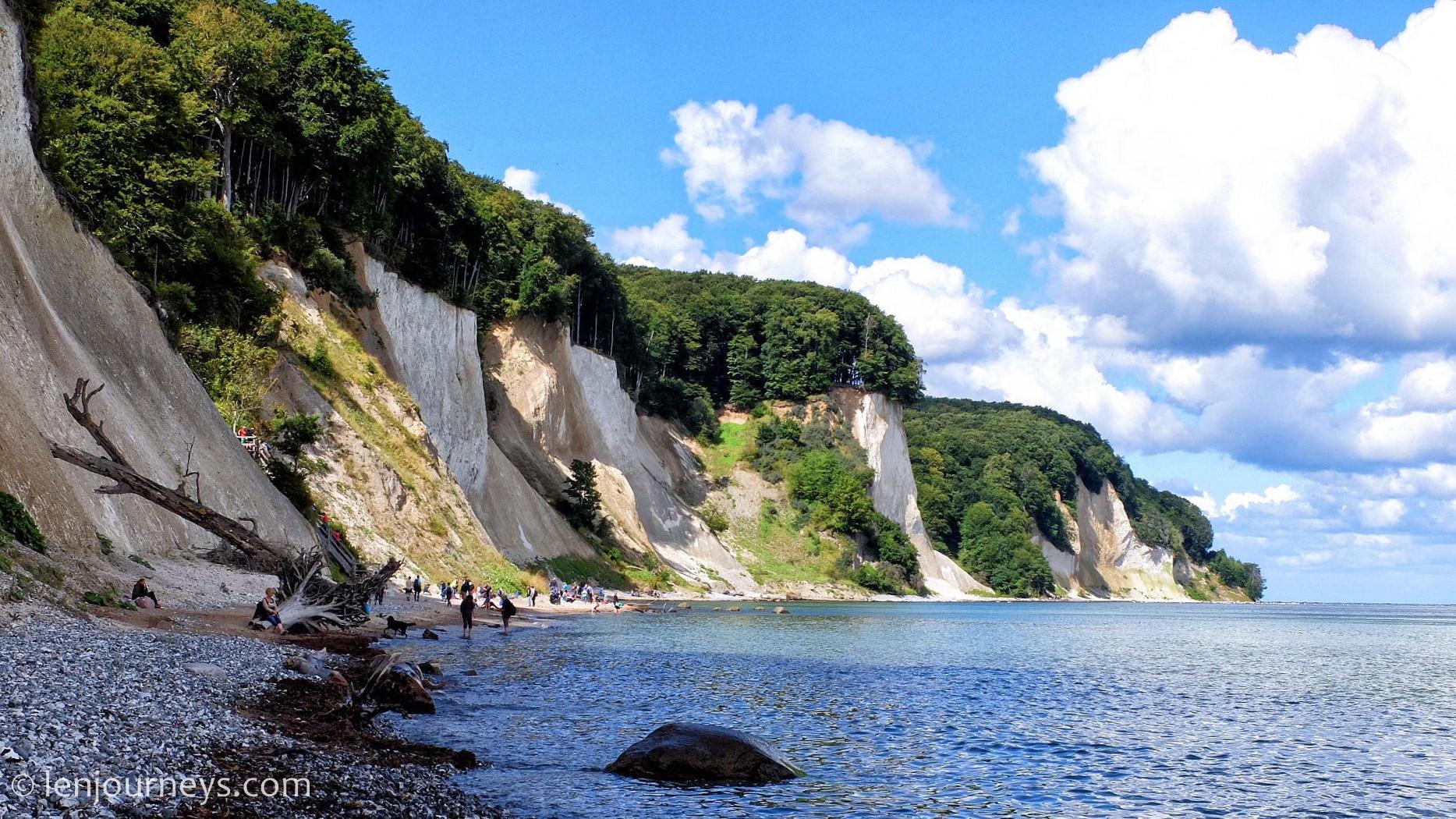 The white chalk cliff of Rügen