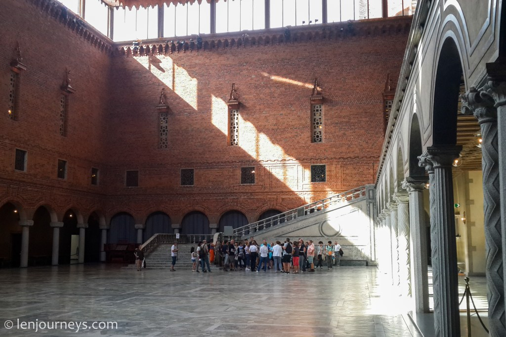 The interior of Stockholm City Hall