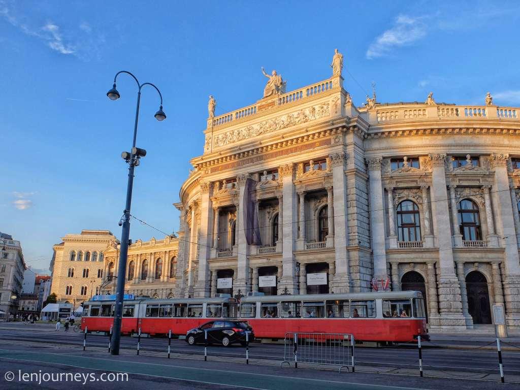 Tram running along Ringstraße, Vienna