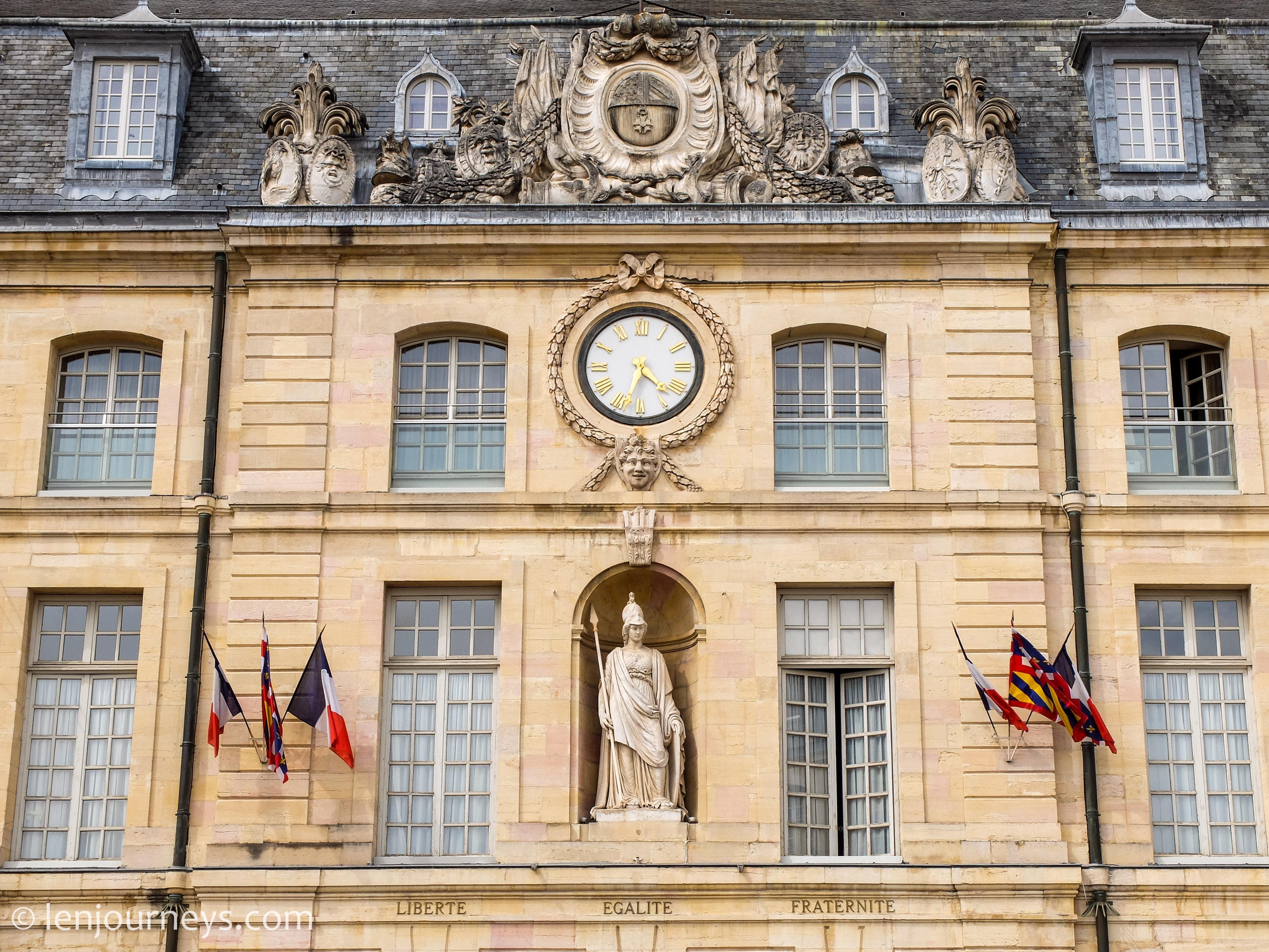 Facade of Dijon City Hall
