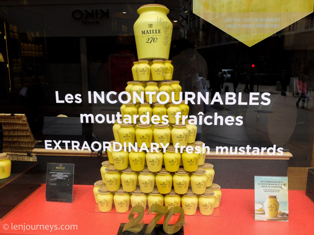 A brand of Dijon mustard