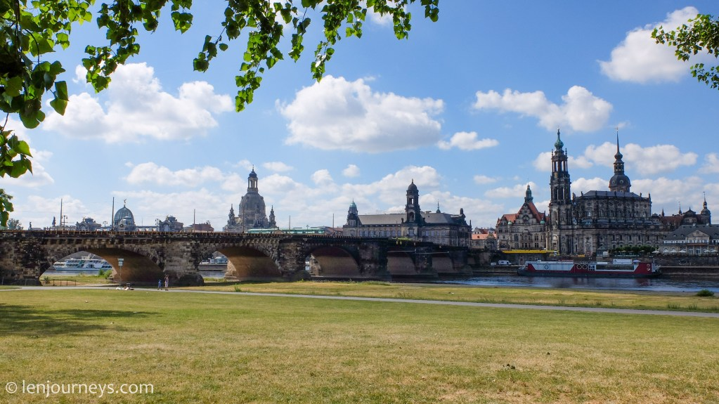 View of Dresden Old Town from the Elbe River