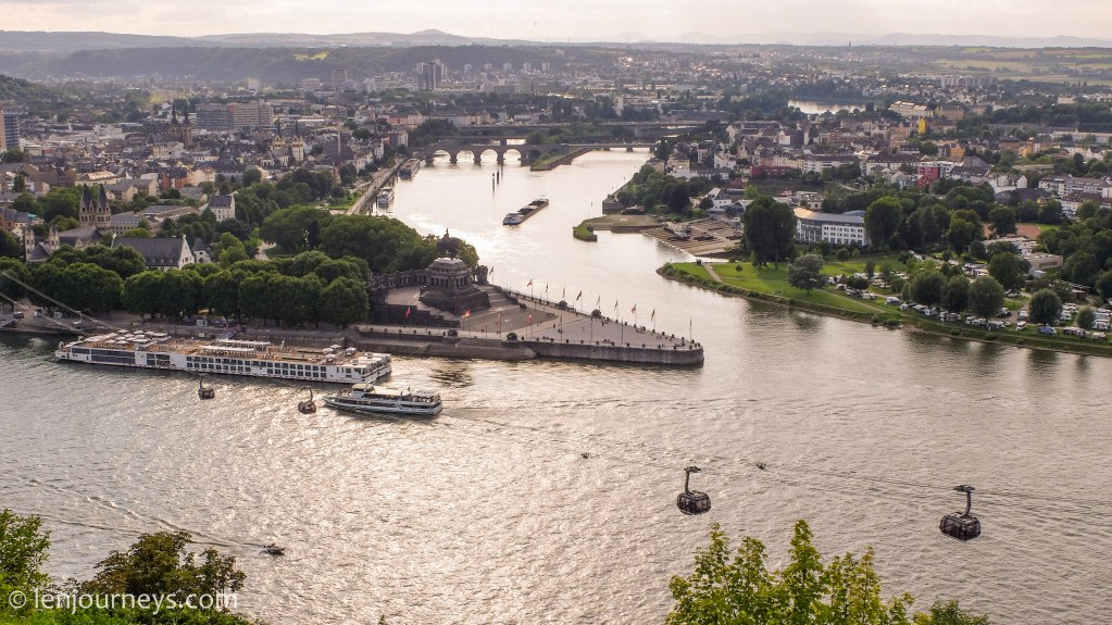 Koblenz - Where the Rhine meets the Moselle River