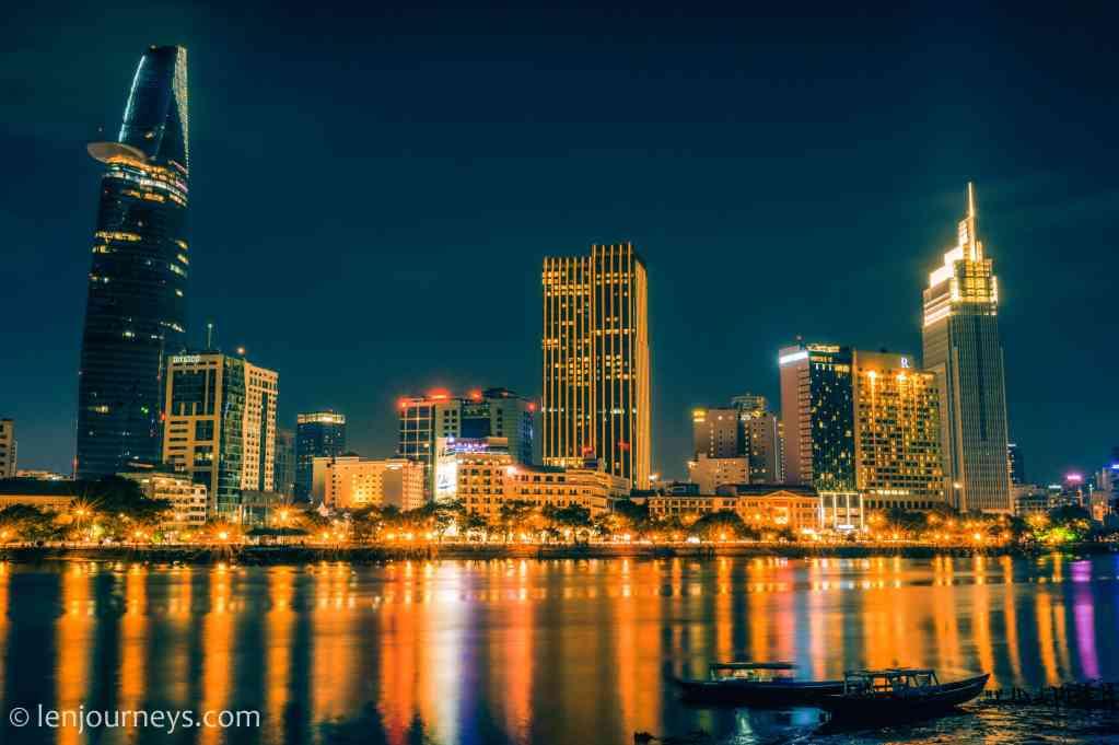 Saigon Skyline - view from the other side of Saigon River