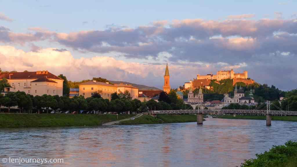 Salzburg - The stage on the Salzach River
