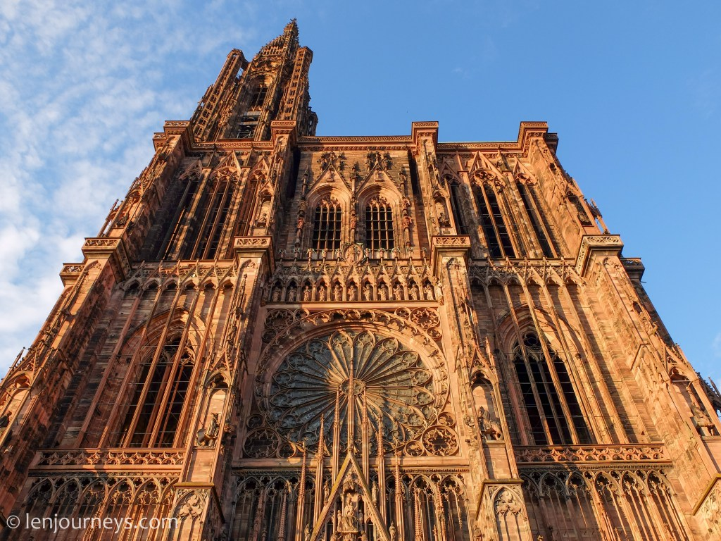 The elaborate facade of Strasbourg Cathedral