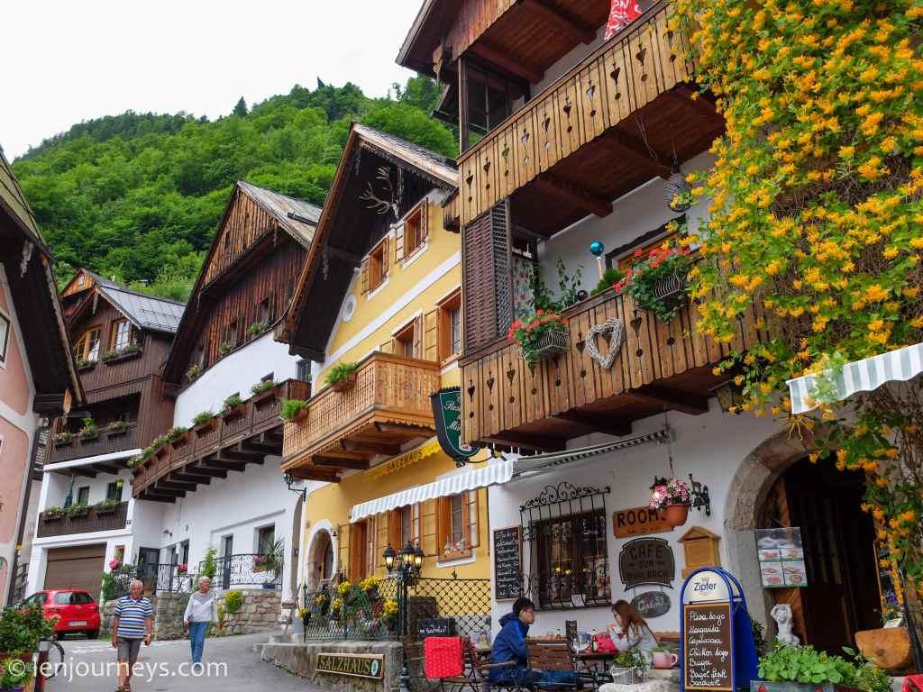 Half-timbered houses in Hallstatt